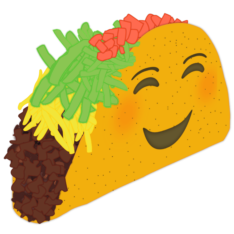 svg royalty free Happy Taco Car Decal