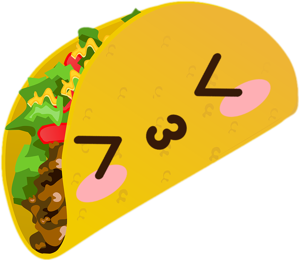 banner transparent download Taco kawaii