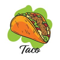clip art free library Vector taco. Tacos free art downloads