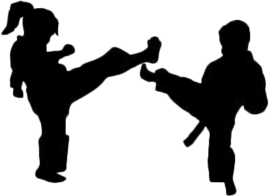 graphic freeuse library Silhouette clip art at. Taekwondo clipart