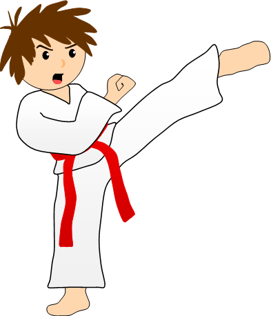 png freeuse library Action clipart swept. Martial arts japanese karate.