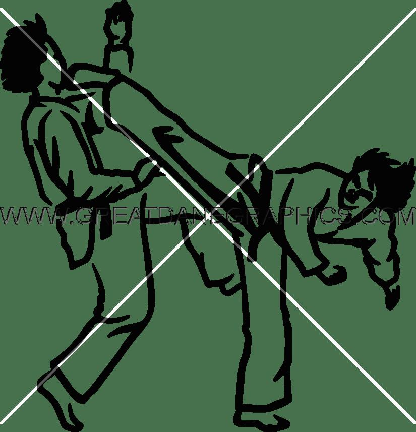 jpg royalty free library Taekwondo clipart. Drawing at getdrawings com