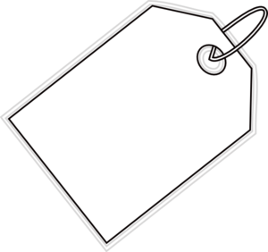 picture black and white Tag clipart. Clip art at clker