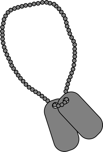 clipart library stock Tag clipart black and white. Military dog tags clip
