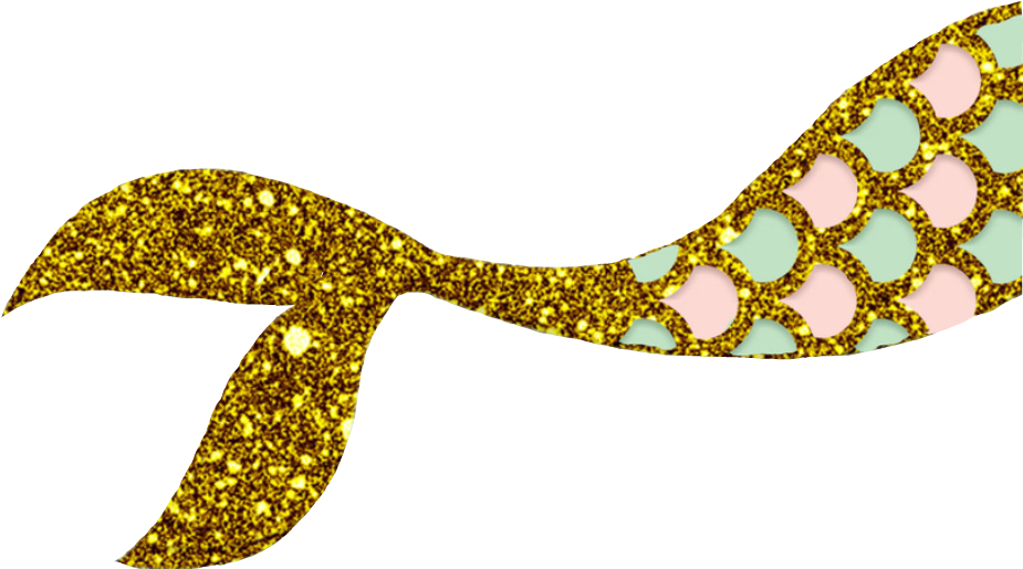 banner royalty free stock Mermaid gold glitter free. Tail clipart