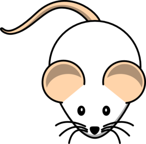 freeuse White mouse pink clip. Tail clipart