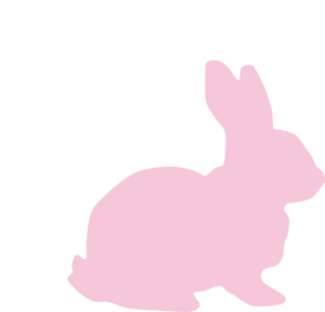 vector black and white library Tail clipart pink. Bunny clip art at