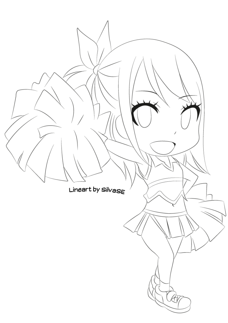 png freeuse download Tail drawing chibi. Lucy lineart by silvase