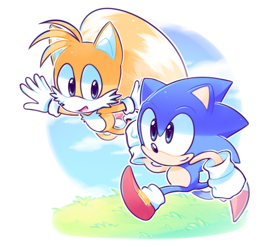 image download And tails by azulila. Drawing sonic cute