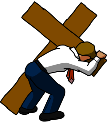 vector free stock Jesus Carrying The Cross Clipart at GetDrawings