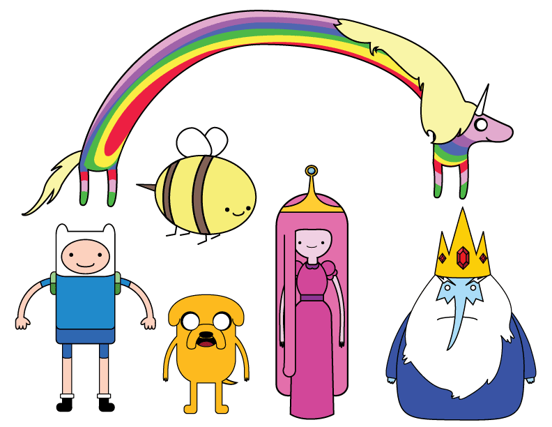 banner black and white stock Whimsical World of Adventure Time