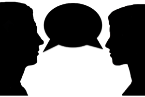 picture free library Unusual people speaking and. Talking clipart