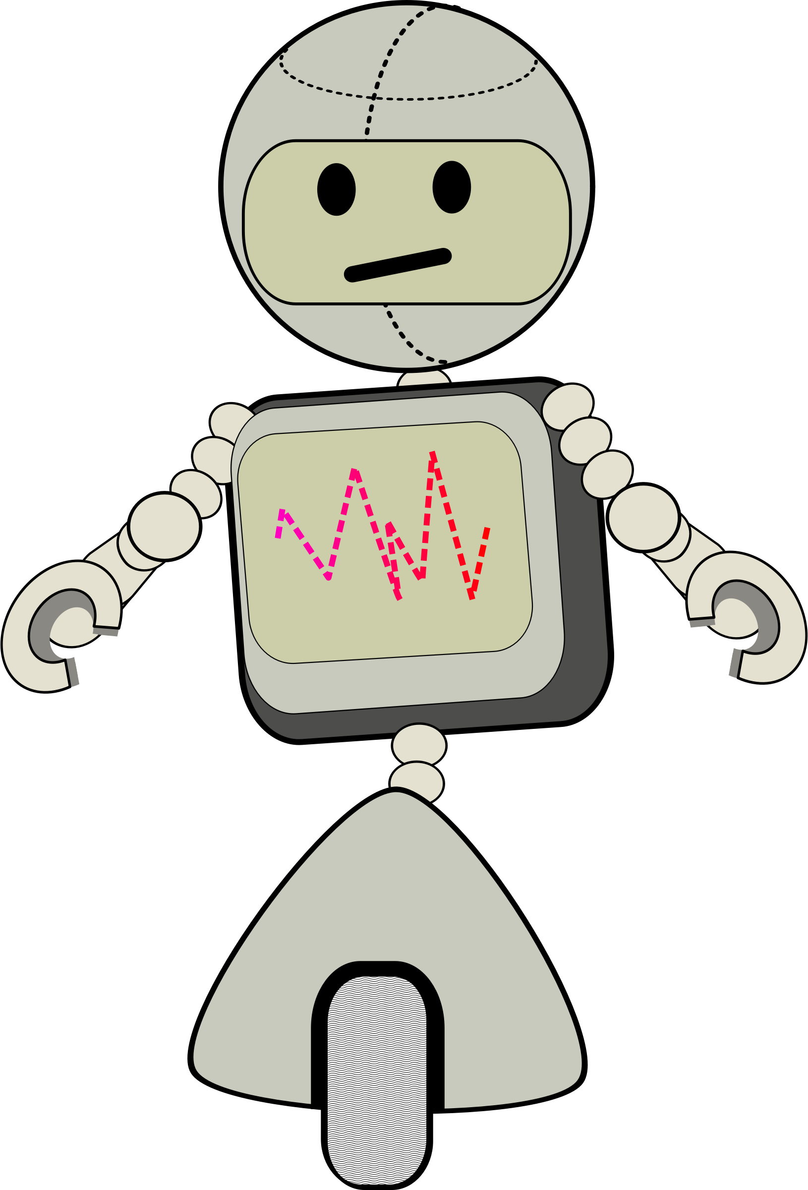 svg royalty free stock Tall clipart. Robot big image png
