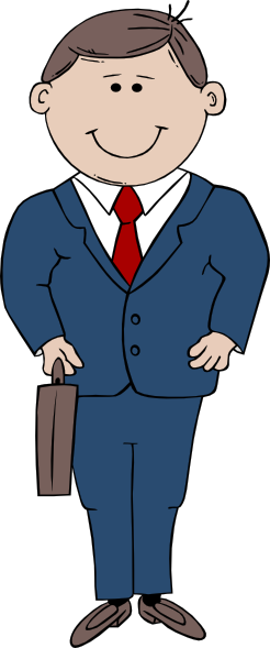 vector royalty free Suit tall free on. Guy clipart man standing