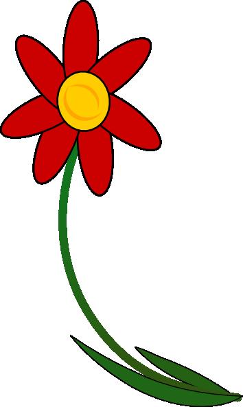 clip free download Bent Flower Clip Art at Clker