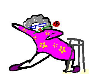 vector freeuse download An Old lady dancing tango drawing by TemptTheDevil