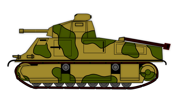 vector royalty free library Army tank clipart. Clip art at clker.