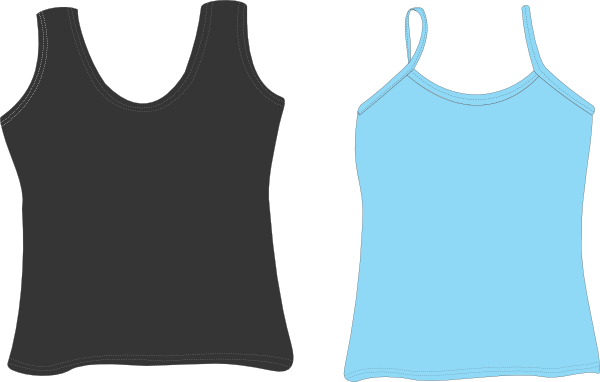 vector freeuse stock Tank Top Clipart