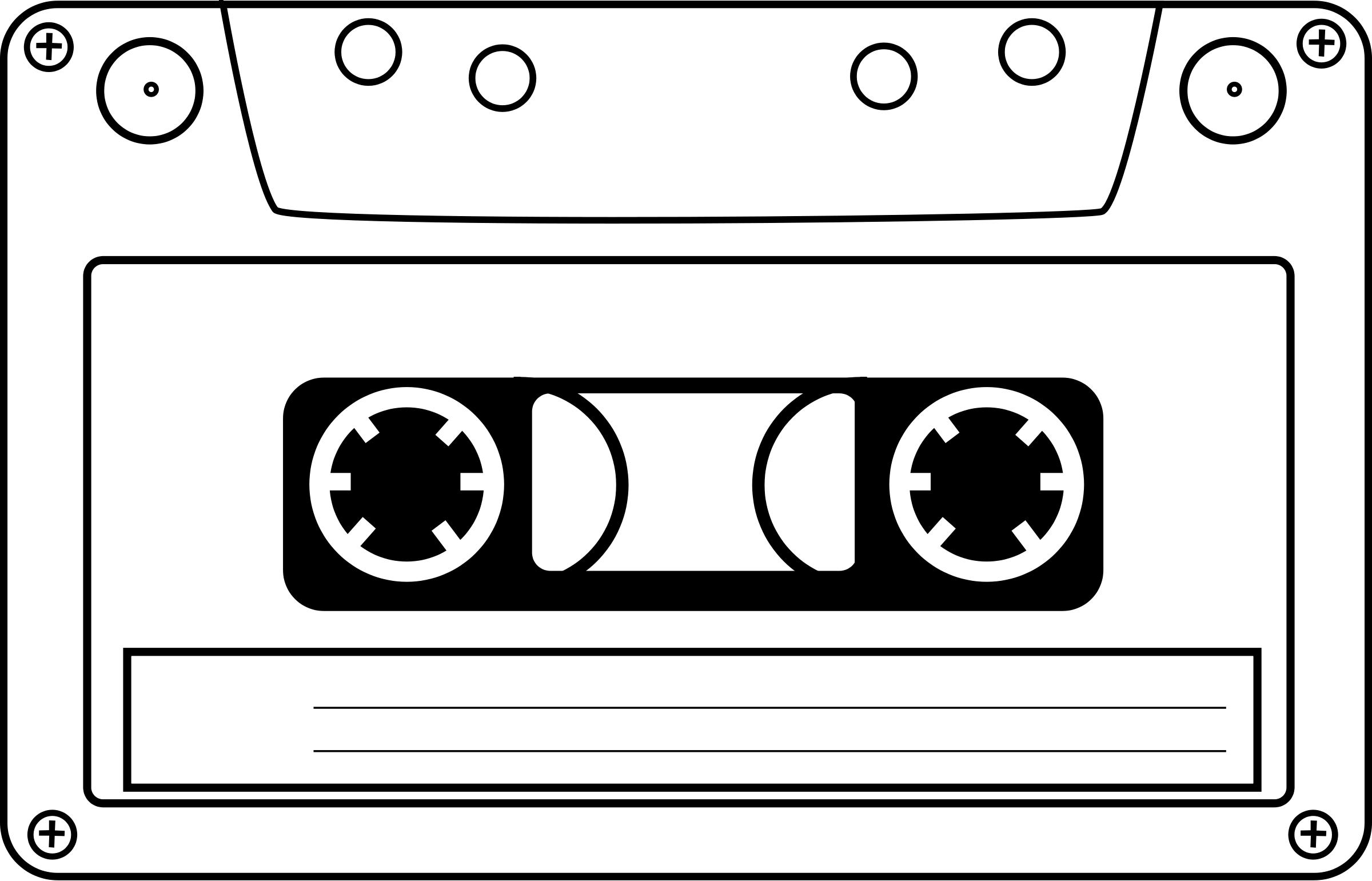 vector freeuse library Tape panda free images. Cassette clipart.