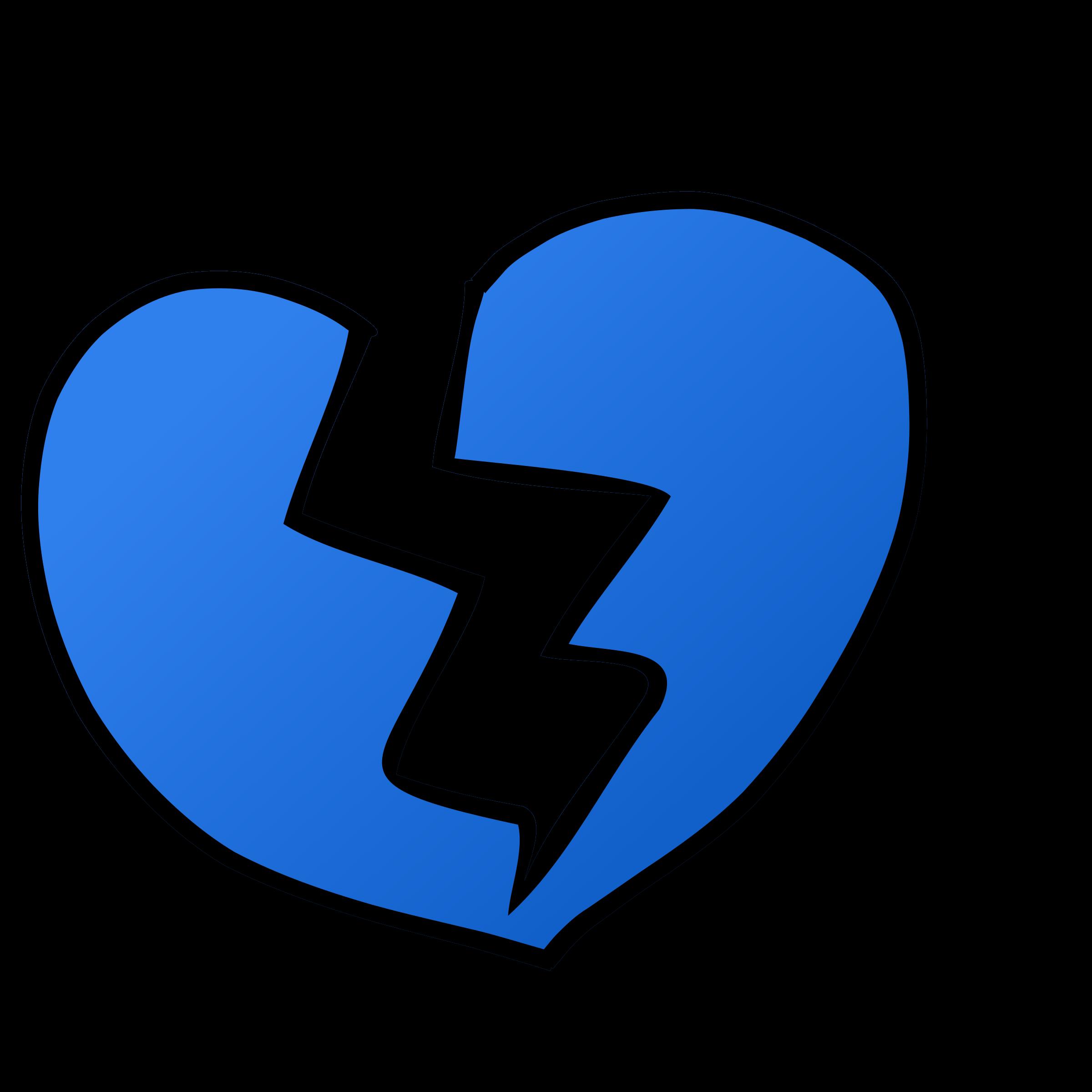 transparent Heart cilpart majestic design. Broken clipart intact