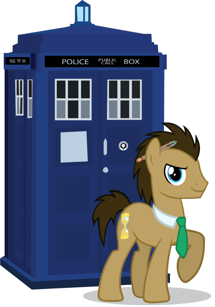 svg library download mlp doctor whooves and tardis