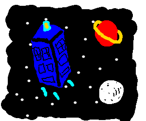 clip art royalty free Flying through and time. Tardis clipart space drawing