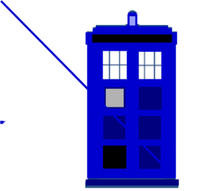 picture black and white library Tardis Clip Art at Clker