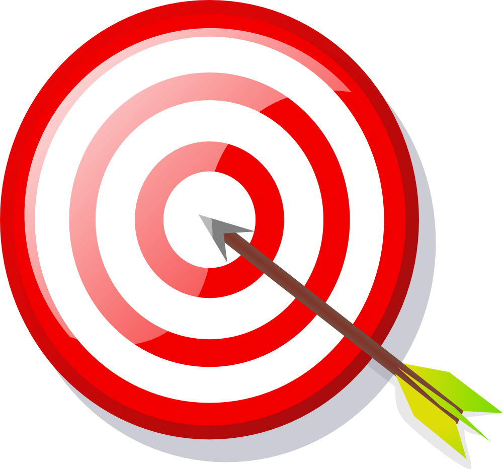 jpg stock Bullseye clipart clip art. Onlinelabels target with arrow.