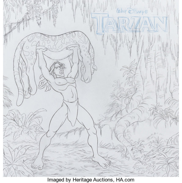 banner royalty free Tarzan Album Cover Concept Drawing