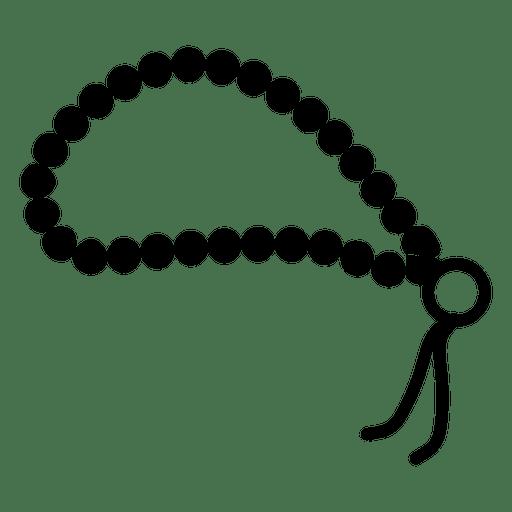 banner free stock Buddhist prayer beads icon