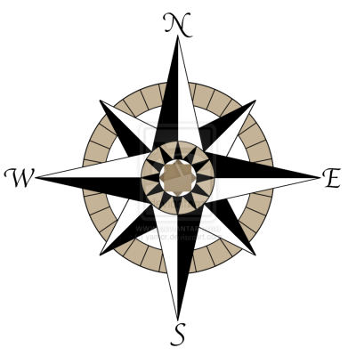 clip art black and white library Transparent compass background. Download free png image