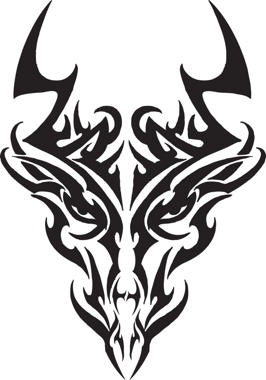 png black and white download Dragon head tattoos tr. Drawing random tribal