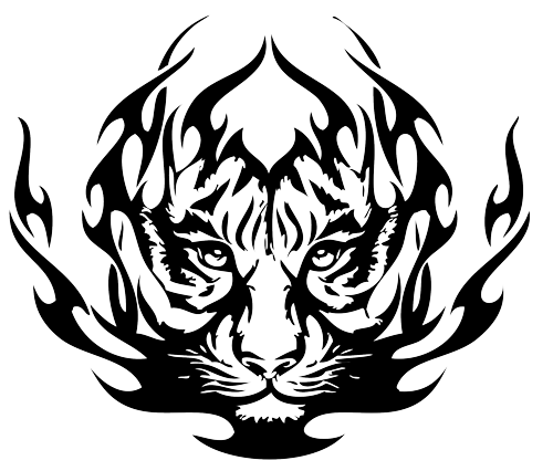 clipart freeuse download Tiger eyes tattoo panda. African clipart tribal
