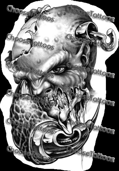 svg transparent download Grey Ink Demon Tattoos Design