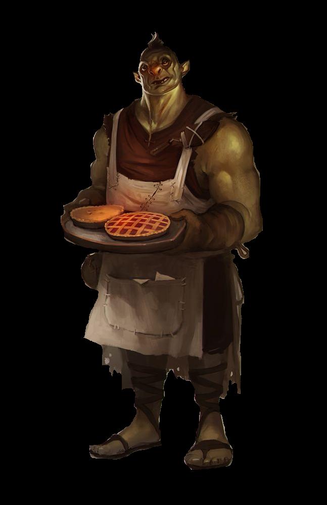jpg freeuse library m Half Orc chef cook npc tavern inn urban