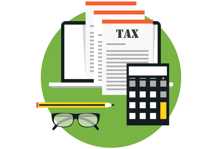 clip art black and white The Income Tax House Corp