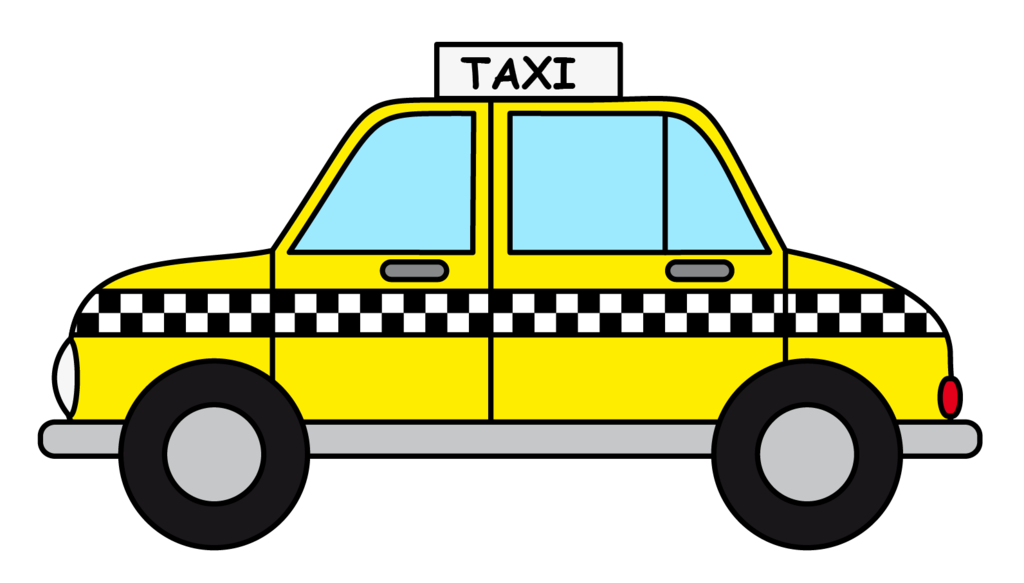 clip art black and white Taxi Clipart red taxi