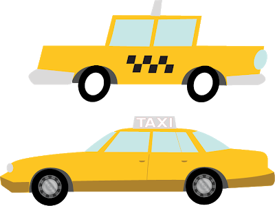 banner transparent Taxi drawing. I am forgetting a.