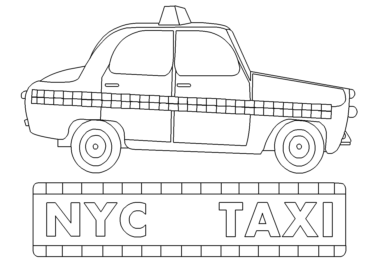 jpg library download taxi drawing coloring page #116206024