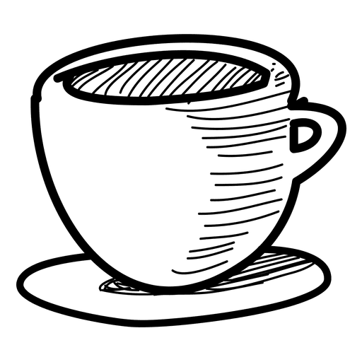 clipart royalty free library Tea cup clipart black and white. Drawing at getdrawings com
