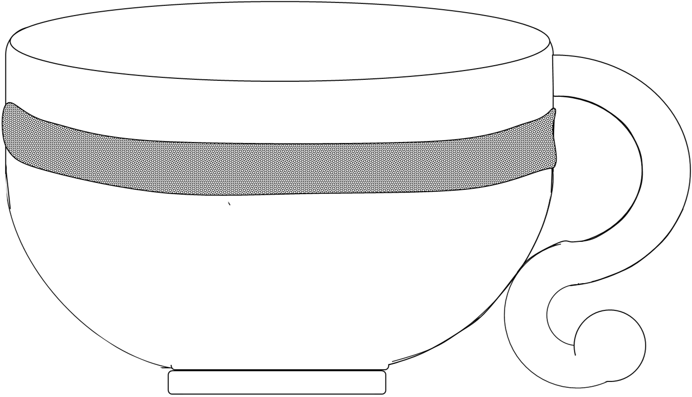 banner royalty free Free images at clker. Tea cup clipart black and white