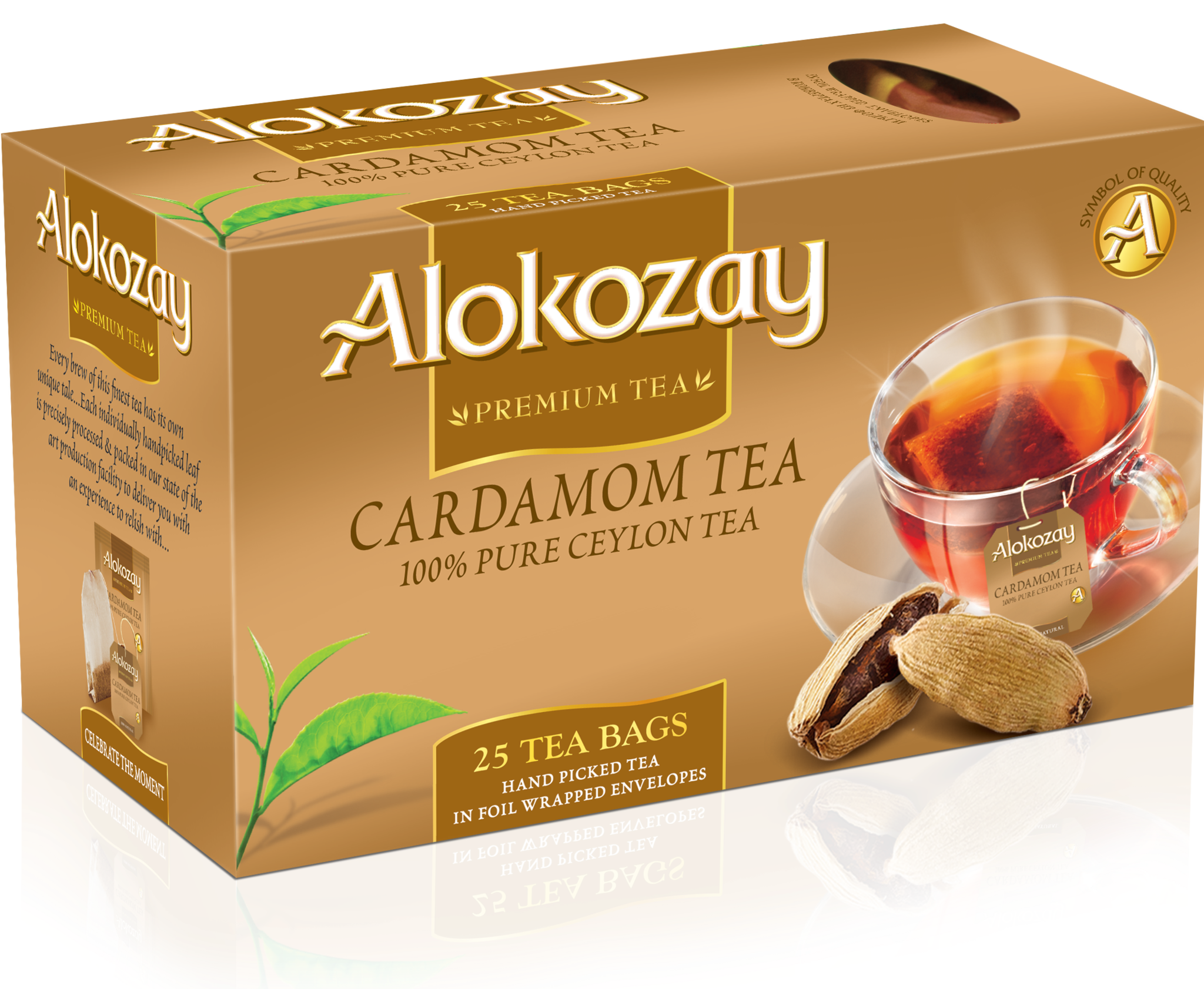 banner royalty free stock Cardamom Tea