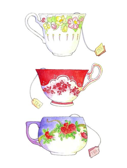 vector transparent stock A cup of tea