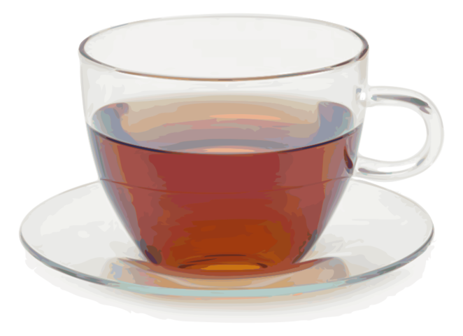 vector freeuse stock Free Glass cup with glass saucer PSD files