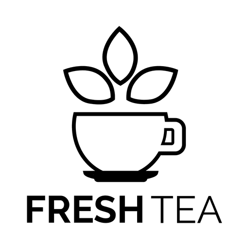 clipart black and white download Tea cup fresh label