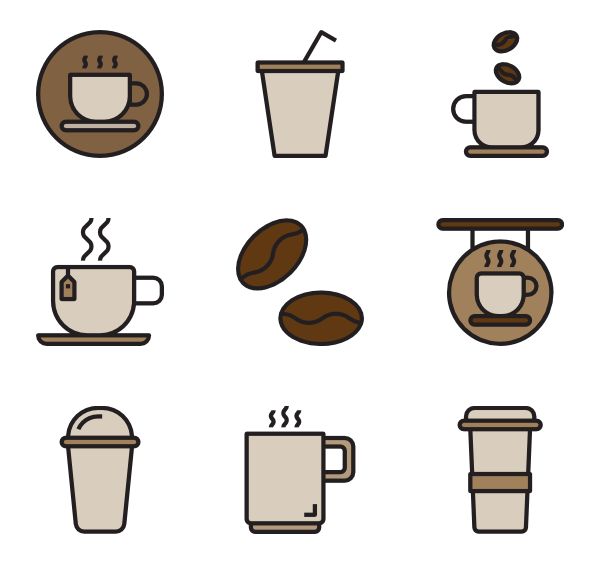 picture freeuse library Vector coffee psd. Cup icons free