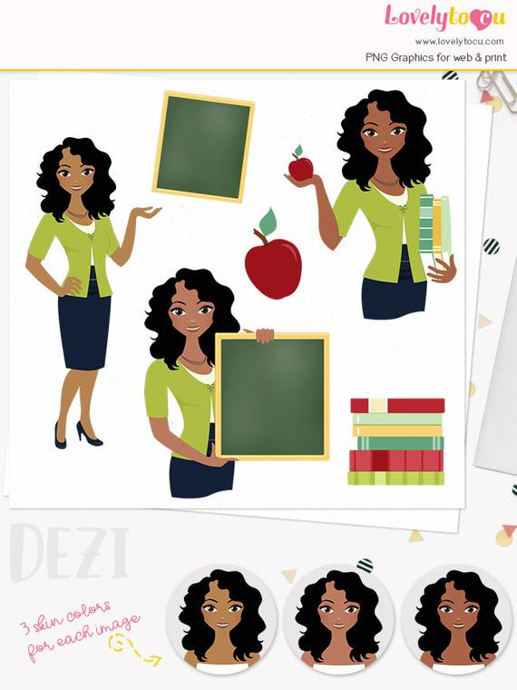 royalty free stock Teach clipart african american teacher. Woman character teaching illustration.