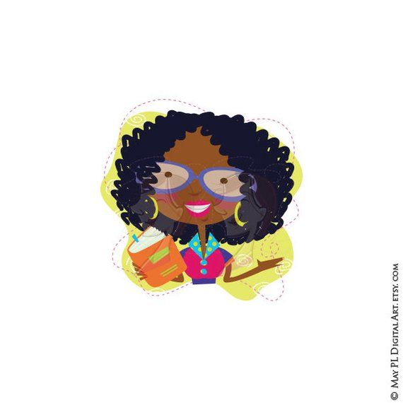 banner transparent library Woman back to school. Teach clipart african american teacher.