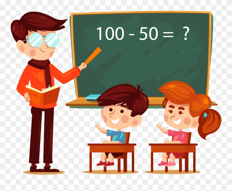 svg free download A and student in. Teacher with students clipart.
