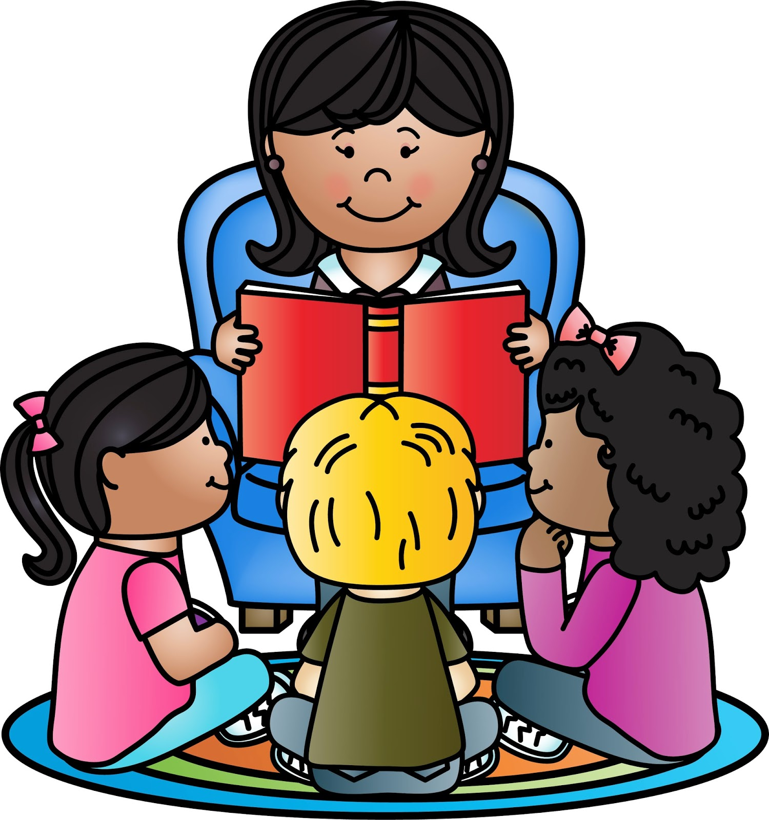 image transparent download Teacher reading to students clipart. Free student cliparts download
